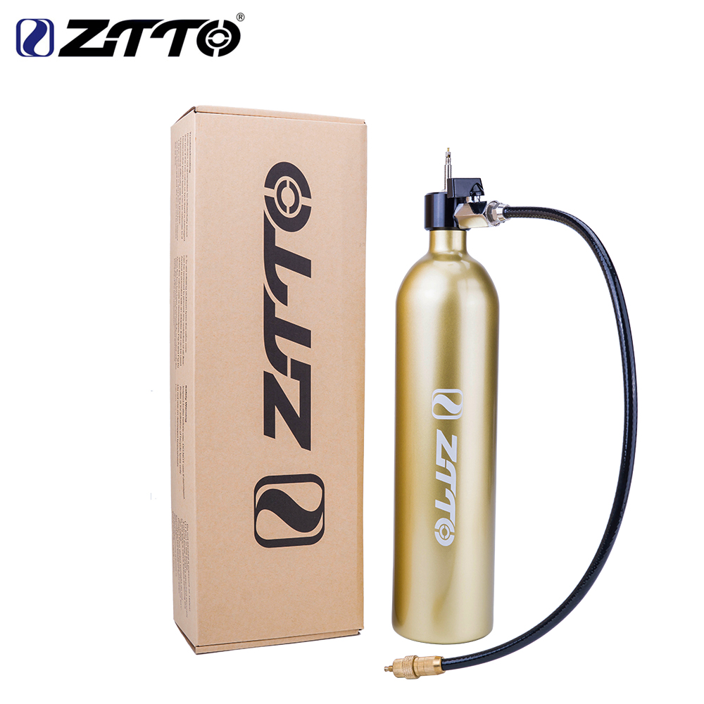 ZTTO Bicycle Tubeless Tire Pump Tyre Inflator Air Booster Air bottle with valve Gas Cylinder fit for MTB road bike tubeless|Bicycle Pumps| - AliExpress