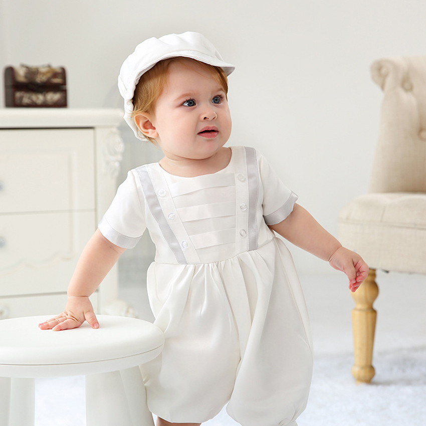 New Born - 4T New Infant Baby Boy Christening Baptism Formal Suit Gown Outfits