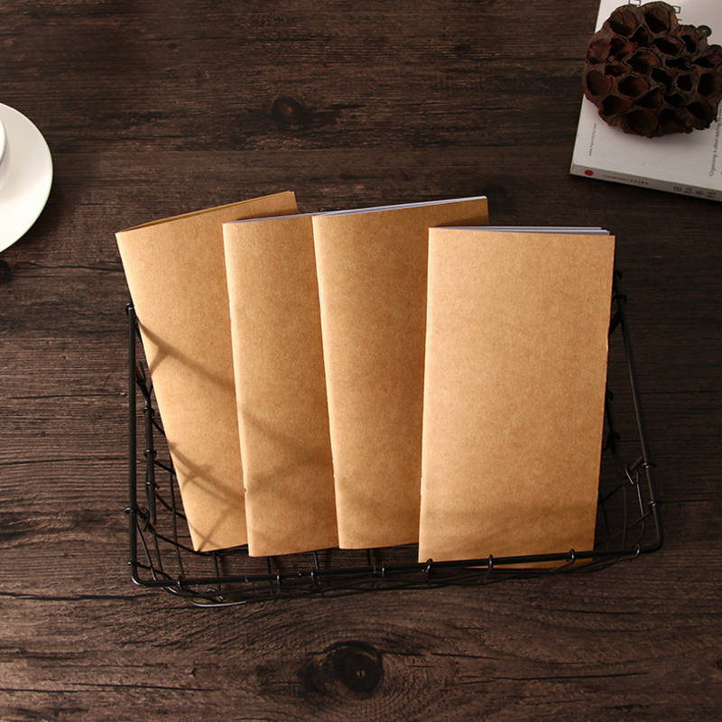 1pcs/lot 21*11cm Standard Notebook Core Travel With Three Design Option To Do List Sketchbook Diary Notepad With Kraft Paper