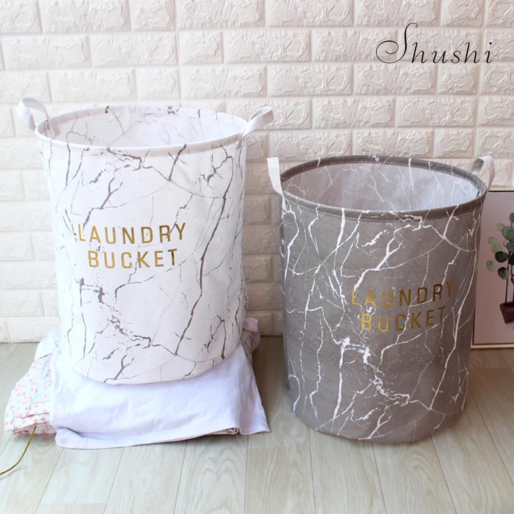 Shushi Nordic Foldable Laundry Hamper Bag Clothes Printed Storage Baskets Home Basket Kids Toy Storage Laundry Basket Hot Sale