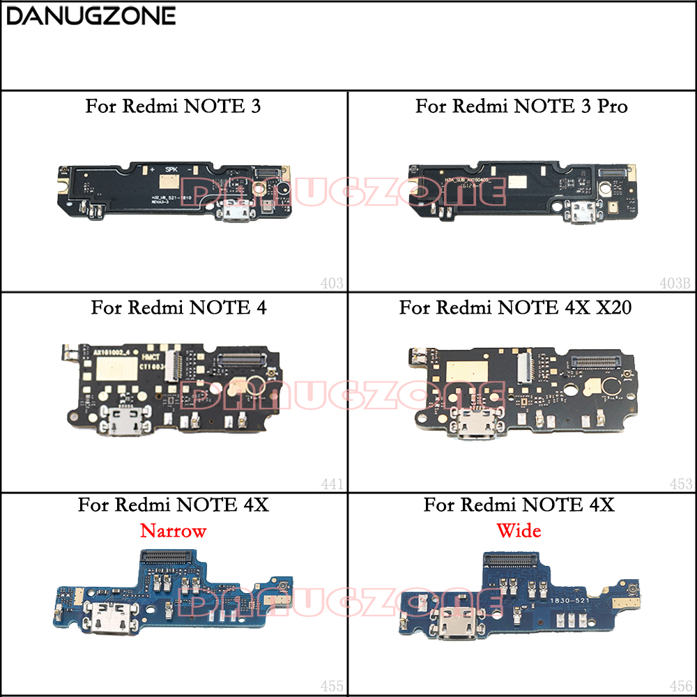 USB Charging Dock Port Socket Jack Plug Connector Charge Board Flex Cable For Xiaomi Redmi Note 4 4X / NOTE 3 PRO / NOTE 4X X20