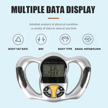 Portátil bodylarge monitor de gordura corporal monitores lcd tela analisador imc medidor saúde analisador de gordura calculadora medição saúde