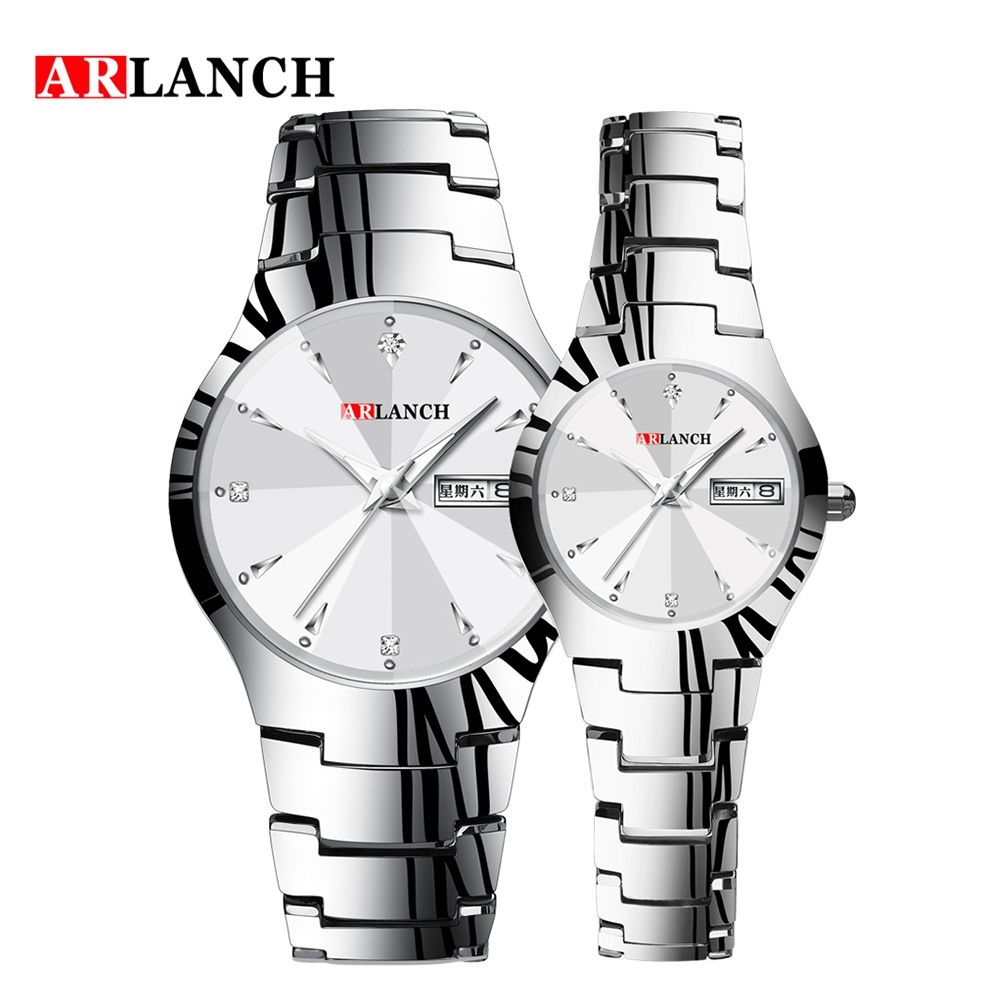 ARLANCH Brand Luxury Lover Watches Quartz Calendar Dress Women Men Watch Couples Wristwatch Relojes Hombre Relogio Masculino