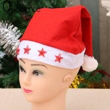 Non-woven Adult Flash Star Christmas Cap Pentagonal Santa Claus