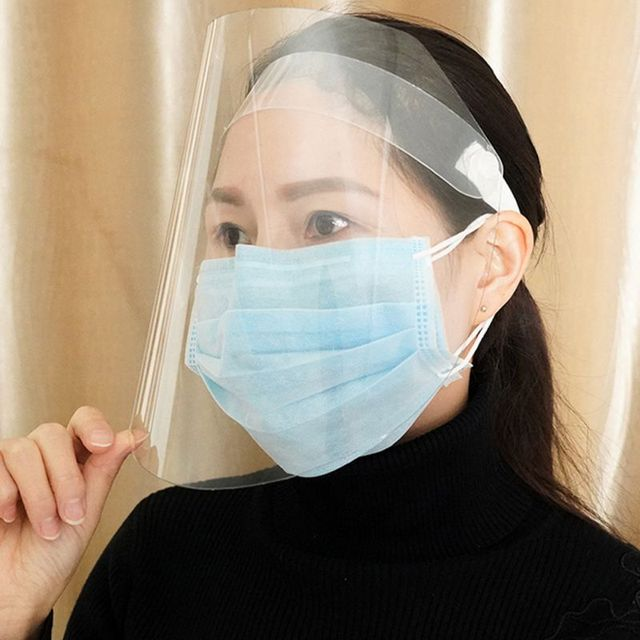 Spring Protective Cover Transparent Mask Protective Face Shield Transparent PVC Anti-fog Saliva And Germ Protection 3