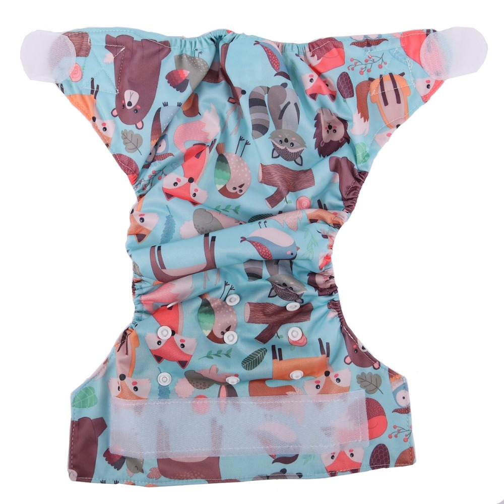 [Sigzagor] 1 тканевый подгузник с карманами для детей, подгузник с застежкой-липучкой, с широкими полосками на талии