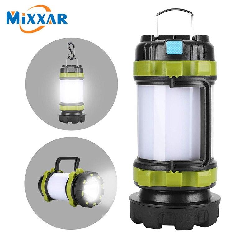 ZK20 портативный светодиодный светильник для кемпинга, рабочий светильник, наружный светильник для палатки, ручной светильник-вспышка, USB Пер...