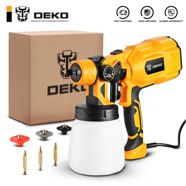 DEKO Spray Gun, 550W 220V High Power Home Electric Paint Sprayer, 3 Nozzle Easy Spraying and Clean Perfect for Beginner|Spray Guns| - AliExpress