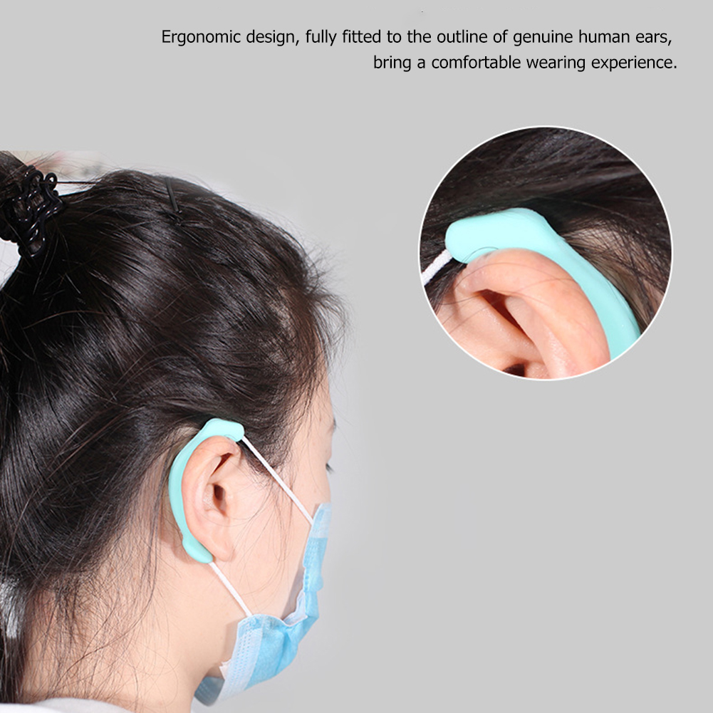 Soft Anti-Slip Ear Pain Relief Protection Loop 1Pair Silicone Face Mask Ear Hook Ear Pain Adjustable Mask Hanging Buckle