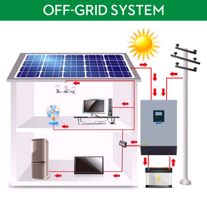 Image 2 - EASUN 전원 5KVA 태양 광 인버터 4000W 48V 230V 순수 사인파 하이브리드 인버터 내장 60A MPPT 태양 컨트롤러 배터리 충전기