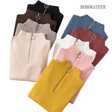 BOBOKATEER pull femme hiver christmas sweater women winter clothes turtleneck knitted pullover sueter mujer invierno 2019