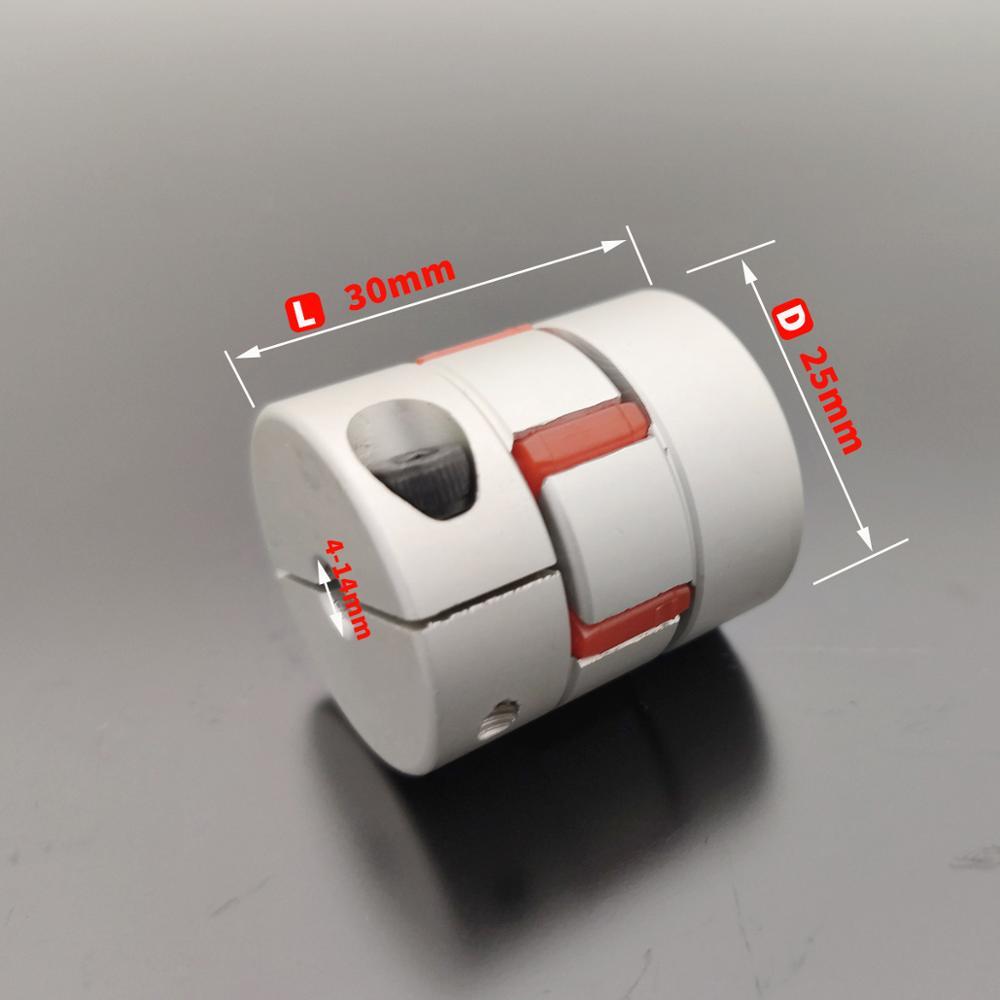 D25L30 Coupler D25 L30 three Jaw Aluminium Plum Flexible Shaft  Coupling  Motor Connector Flexible Coupler 5/6/6.35/8/10/12mm