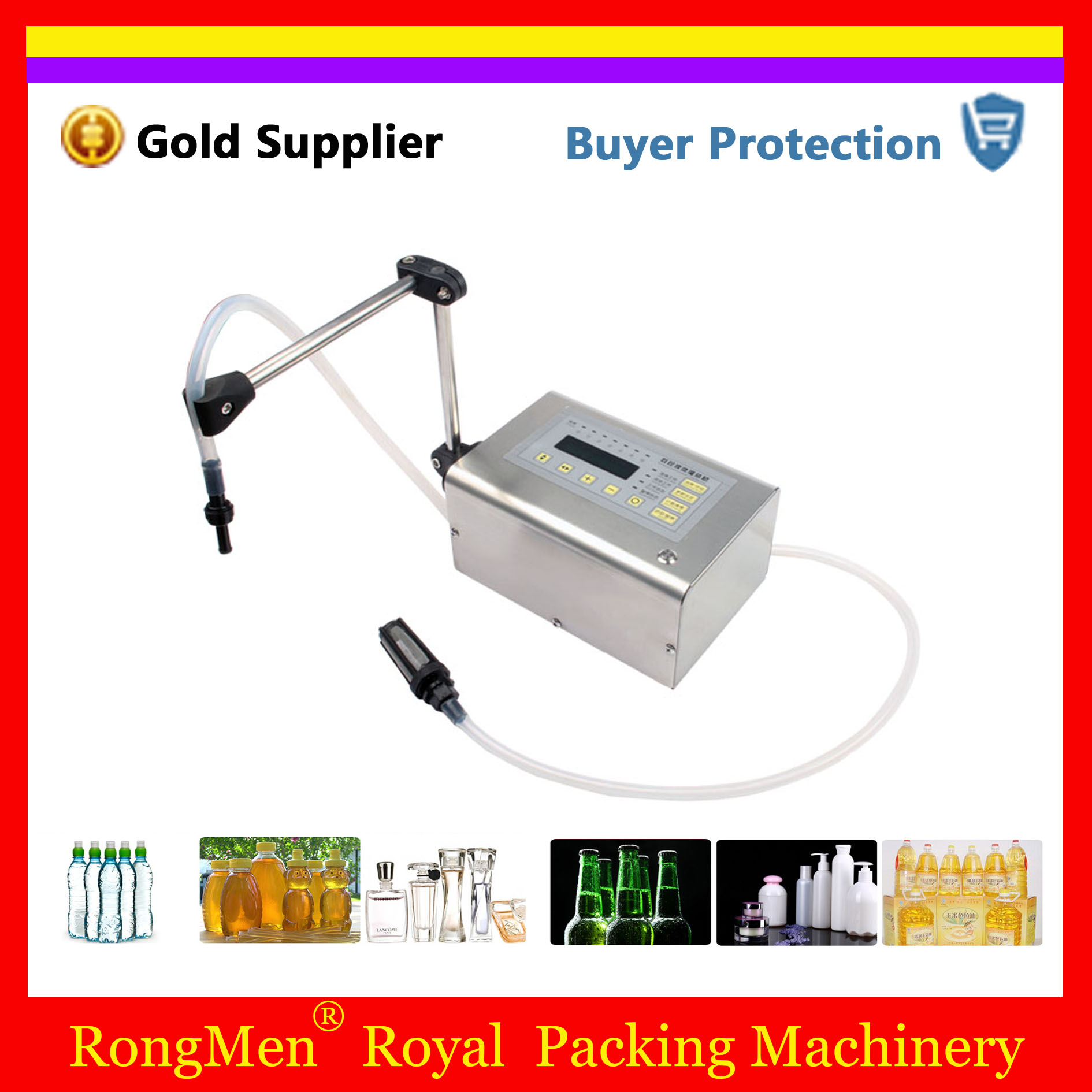 Liquid Filling Machine Digital Control Drink Filler Mini Electric Lcd Display Water Oil Perfume Milk Oil Bottle