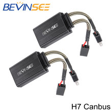 Bevinsee H7 Led Canbus Decoder H11 H8 Led Weerstand Canbus Foutloos Decoder Waarschuwing Anti Flicker Canceller Voor Auto Koplampen