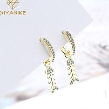 XIYANIKE-pendientes de plata de primera ley para mujer, aretes pequeños, plata esterlina 925, diseño creativo, cristal de pez