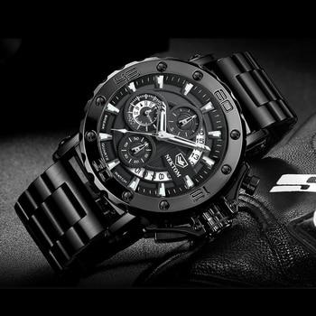 NEKTOM Men's Watches Quartz Watch Waterproof Watches Steel Strap Wristwatch Watches For Men Military Watch Clock Sports Watches 3