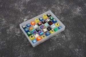 Image 3 - [صندوق فقط] صندوق الشر أكريليك كيكابس صندوق 7x5 لوحة المفاتيح sa gmk oem الكرز dsa xda كيكابس صندوق لمجموعة الأسهم Keycap