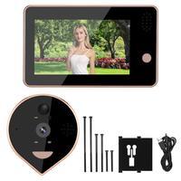 4.3inches Colorful Screen Smart IR WIFI Door Viewer Video Doorbell PIR Motion Detection motion sensor bell New