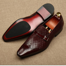 Dress Shoe Italy Handmade Office Wedding Party Genuine-Leather Male Men Fashion Summer