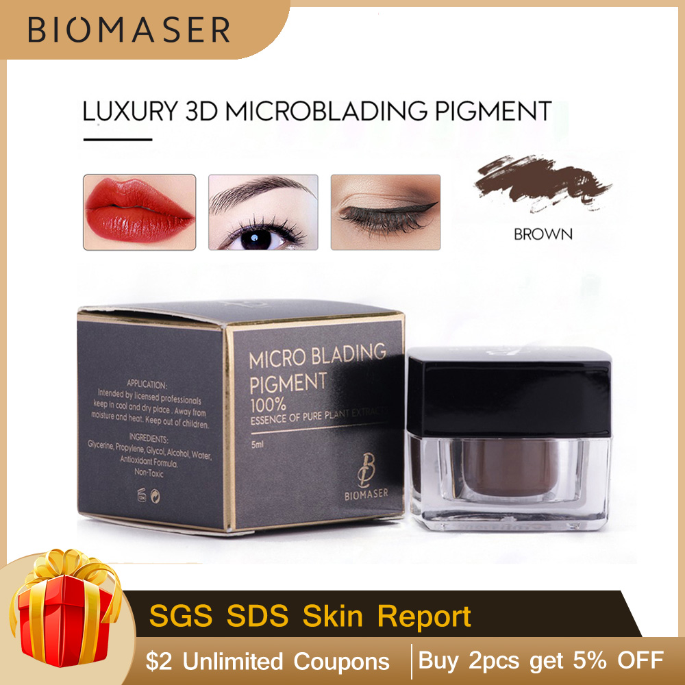 Biomaser High-End Tattoo Pigment Microblading Pigment For Eyebrow Permanent Makeup Tatoo Pigment Brown Tattoo Pigmento