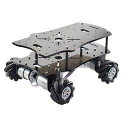 Moins cher 5KG charge 4WD 60mm Mecanum roue Robot châssis de voiture avec DC 12V codeur moteur pour Arduino framboise Pi bricolage projet