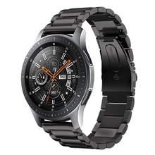 Pulseira para Samsung Galaxy watch 46mm 42mm feita de aço inoxidável, para Gear S3 Frontier, bracelete de metal de alta qualidade