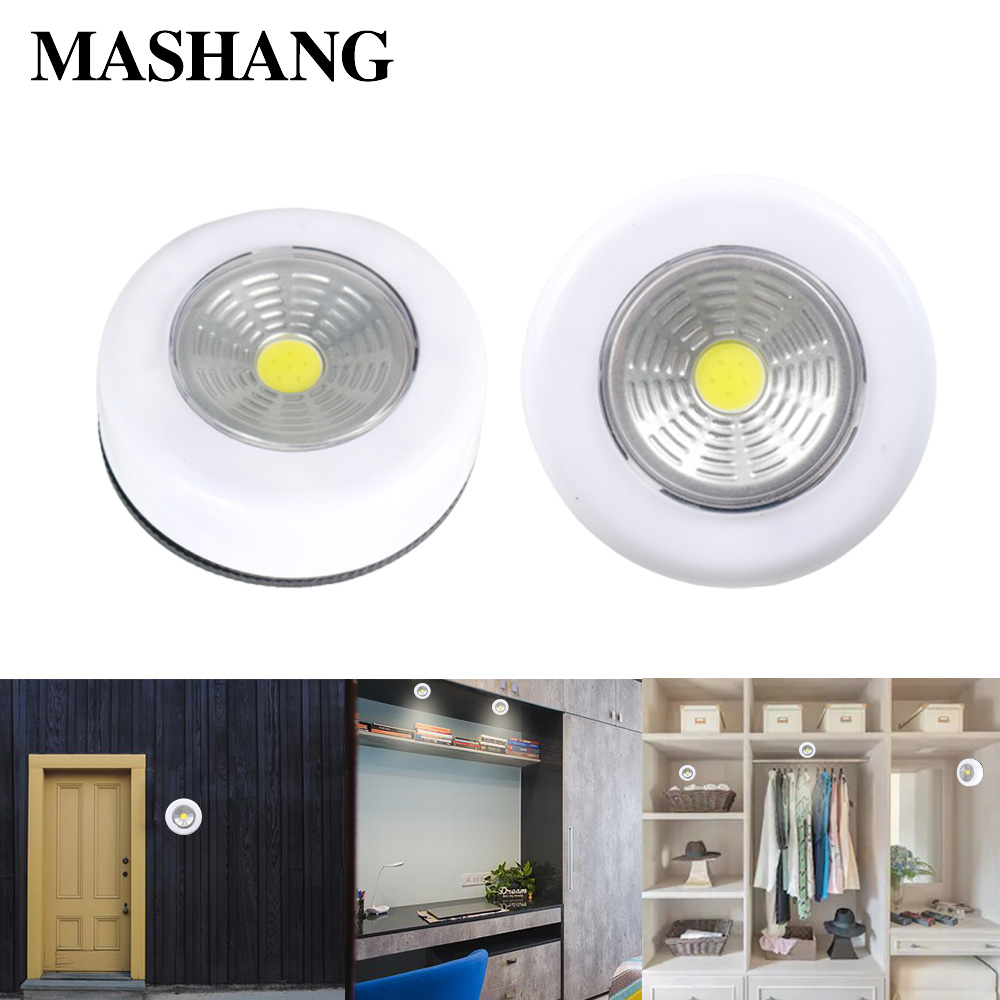 LED Cabinet Light COB Wireless Wall Night Lamp Power By Battery Lighting For Warbrobe Closet Stair Kitchen Bedroom Wall Lights