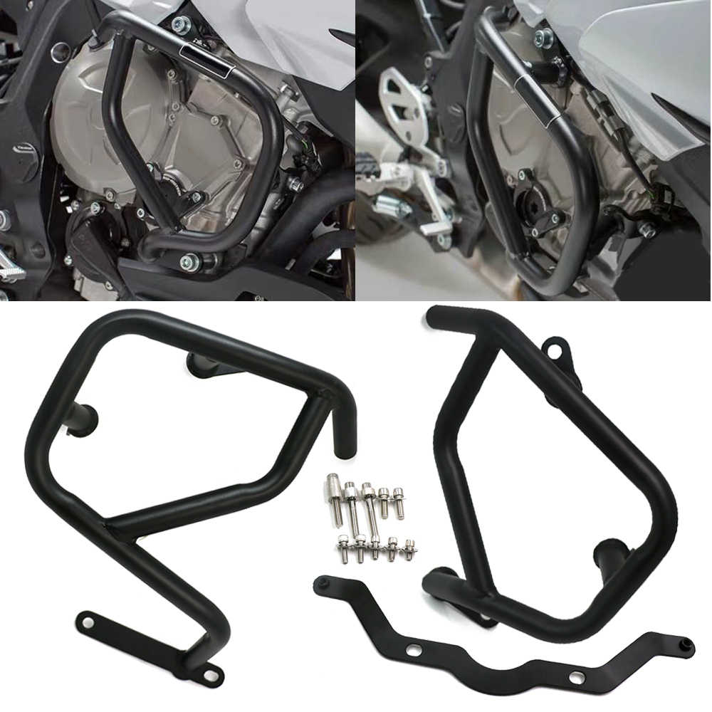 Black COPART Crash Bar Highway Engine Guards Side Engine Protectors Replacement for BMW C400GT 2019 2020