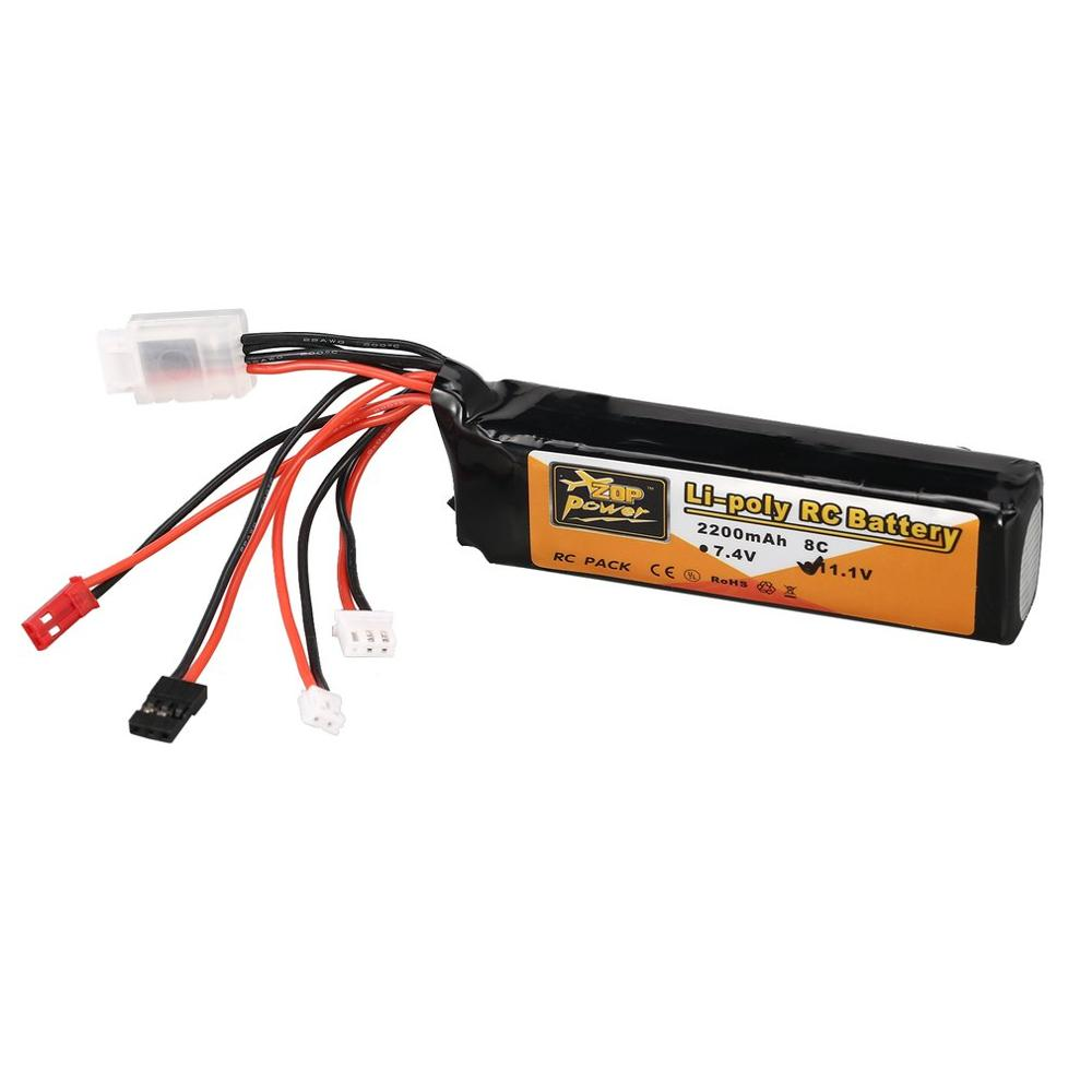 New ZOP Power 11.1V <font><b>2200mAh</b></font> <font><b>3S</b></font> 8C <font><b>Lipo</b></font> Battery JR JST FUBEBA Plug for Transmitter Batteries for RC Helicopter Spare Parts Accs image