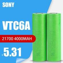 1-10 pces sony 100% original 21700 3.7v vtc6a 4000mah lítio bateria recarregável us21700vtc6a 30a descarga para brinquedos lanterna