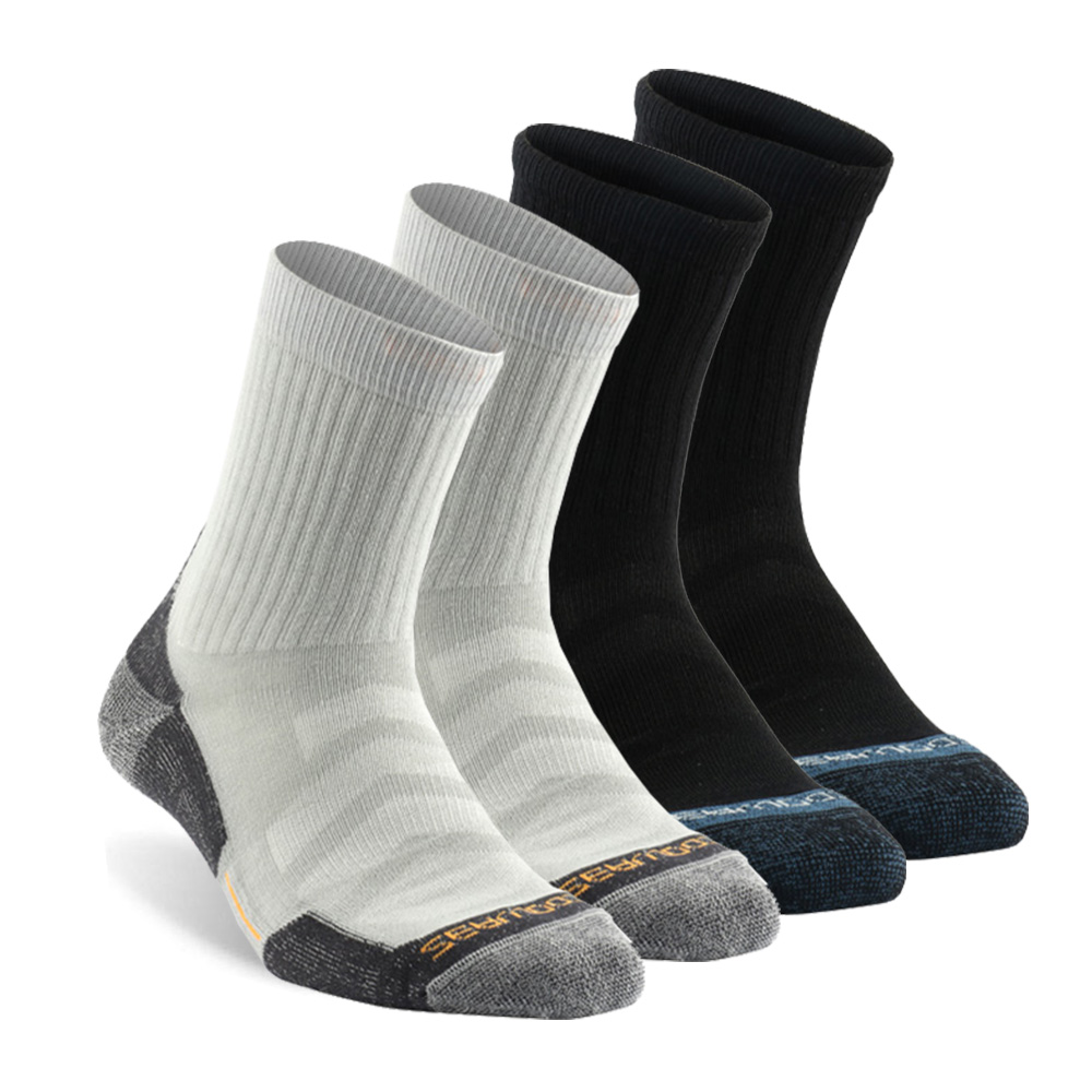 4 Pairs Running Socks, ZEALWOOD Unisex Antibacterial Moisture Wicking Cushion Crew Hiking Socks, socks men, socks women