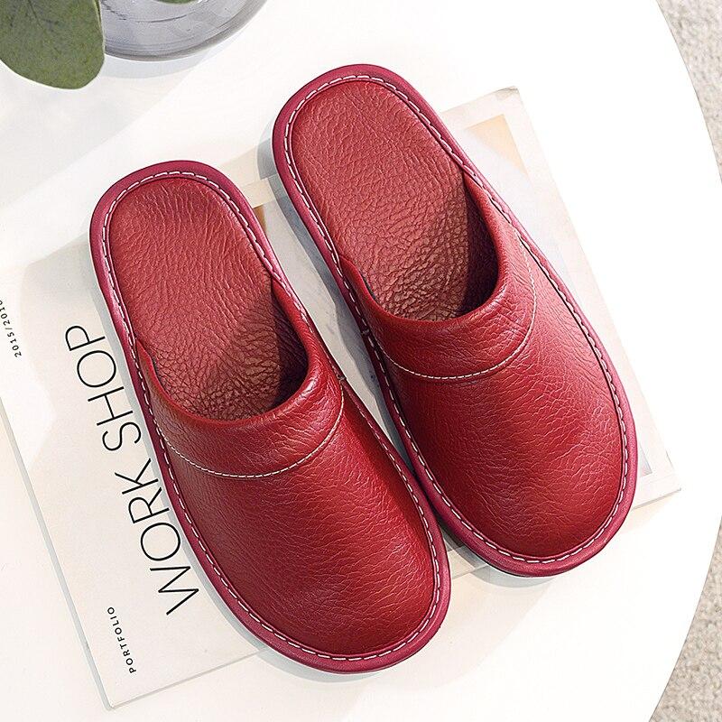 Роскошные брендовые классические Шлепанцы из натуральной кожи; Сезон осень 2020 года; Модные кожаные шлепанцы; Женская домашняя обувь|Тапочки|   | АлиЭкспресс