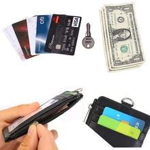 Retractable Badge Lanyard Work Name Business Card Cover Women Men Bank Credit Card Holder PU Leather Bus ID Card Pocket Wallet