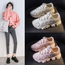 BIMUDUIYU Women Platform Chunky Sneakers New Spring Old Dad Female Vulcanized Shoes Comrfortable lace-up Casual Fashion