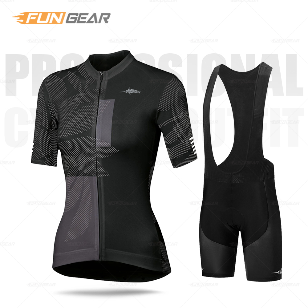 2021 Woman Cycling Set Triathlon Bicycle Clothing Breathable Summer Team Mountain Cycling Clothes Suits Ropa Ciclismo Sport Wear