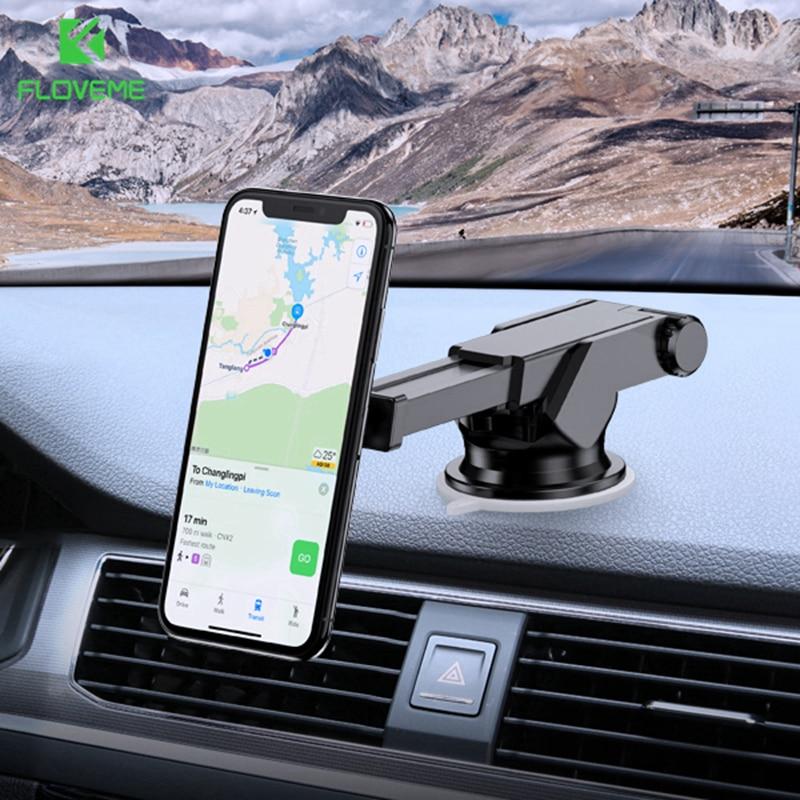 FLOVEME Forte Ímã Magnético Suporte Do Telefone Do Carro para o telefone Consola Central Ventosa Montar Carro Titular Do Telefone Movil Soporte Coche suporte celular