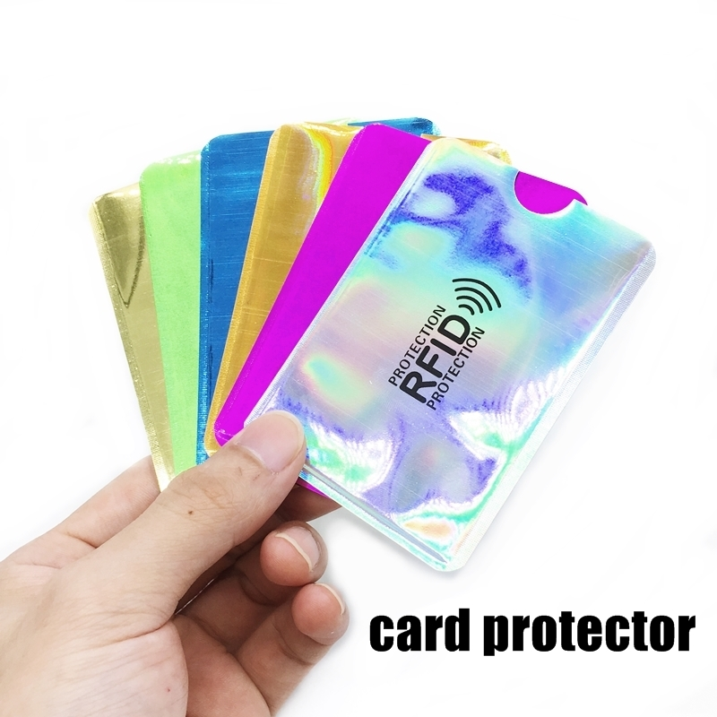 Anti Rfid Card Holder NFC Blocking Reader Lock Id Bank Card Holder Case Protection Metal Credit Card Case Aluminium F051 2