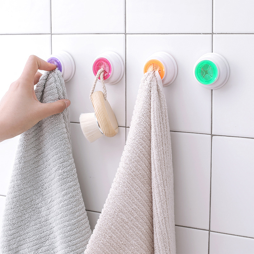 1PCS Convenient Kitchen Storage Hooks Washing Cloth Hanger Rack Towel Holder Sucker Wall Window Bathroom Tool 4 Colors Optio