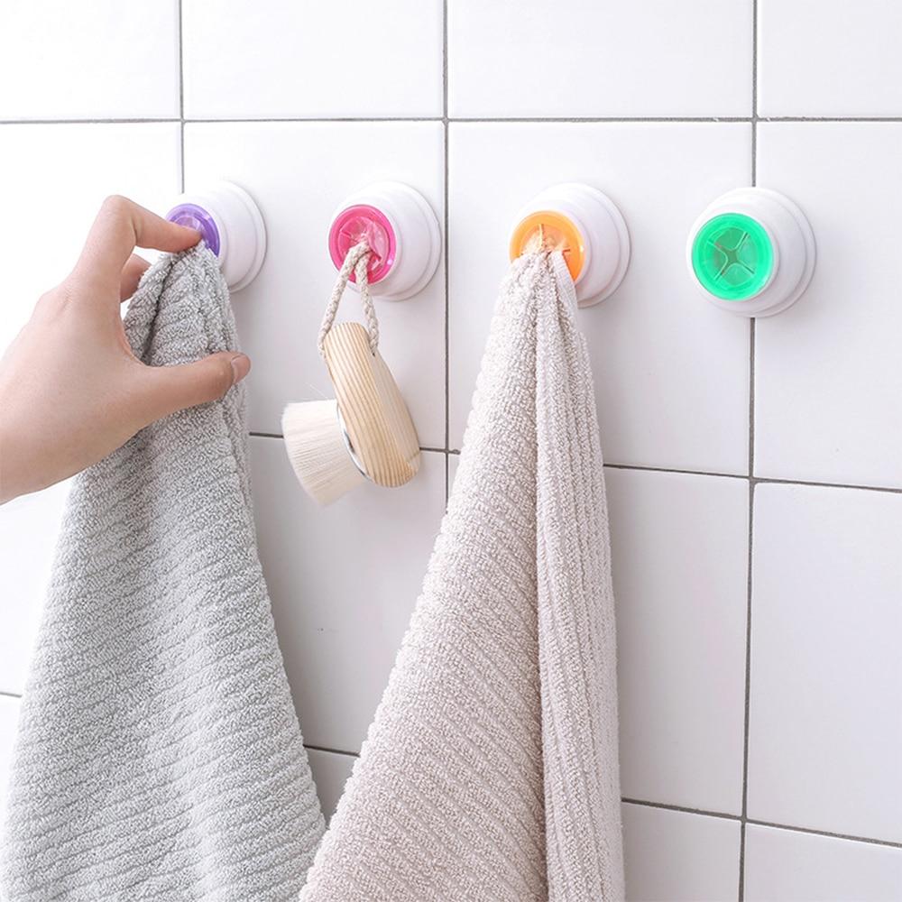 1PCS Convenient Kitchen Storage Hooks Washing Cloth Hanger Rack Towel Holder Sucker Wall Window Bathroom Tool 4 Colors Optio
