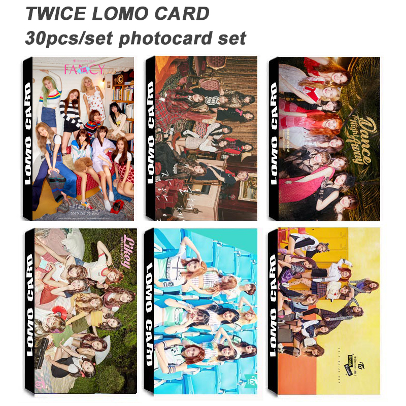 30pcs/set Fashion Kpop TWICE Photocard Set New Album Poster Photo Lomo Card HD Arrivals Kpop Photo Card TWICE Supplies
