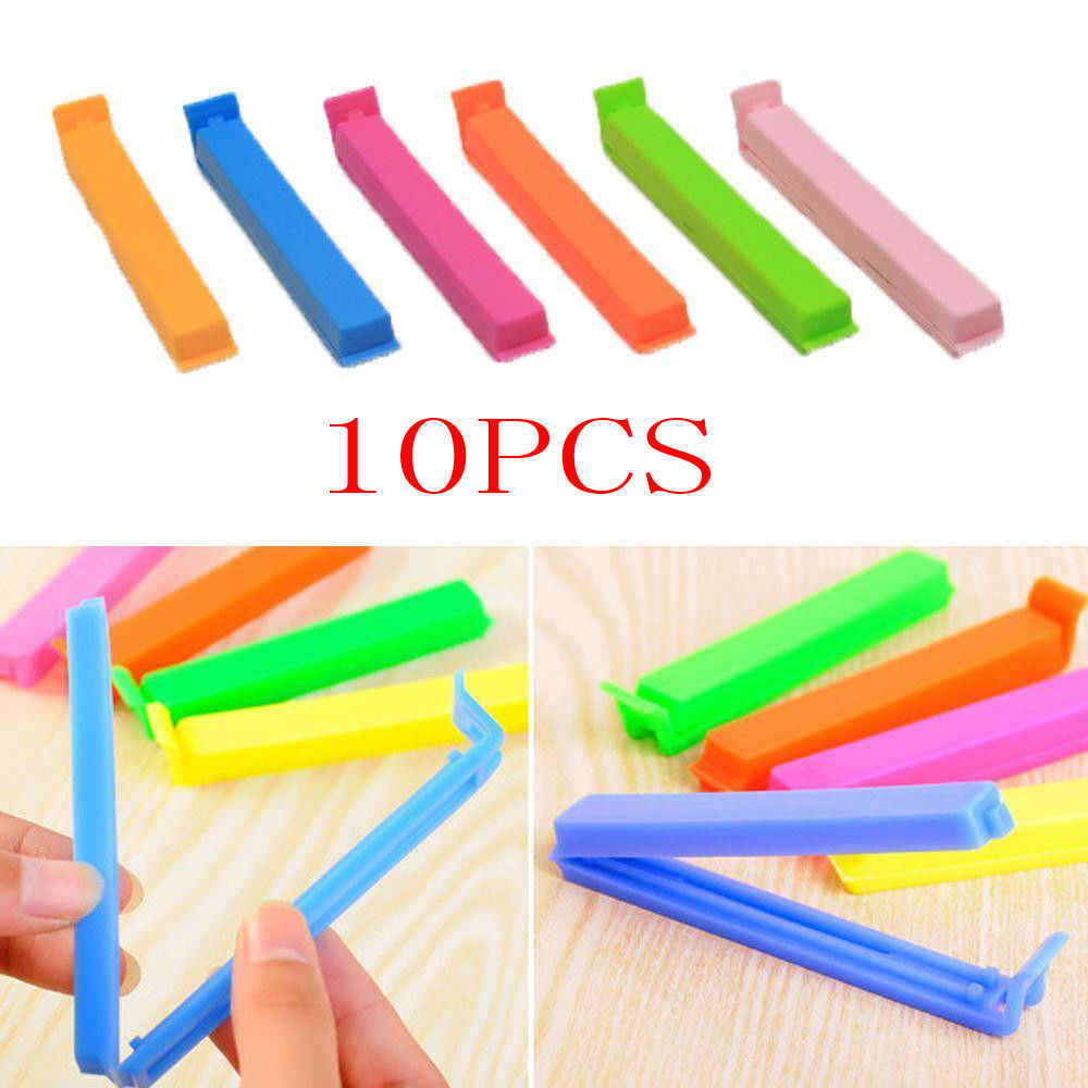 Kitchen Storage Food Snack Seal Sealing Bag Clips Sealer Clamp Plastic Tool 10Pcs