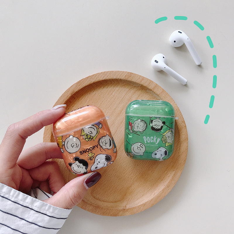 Japanese Korean Cute Cartoon AirPods Shell Pattern Protective Case for Apple Wireless Bluetooth Headphone Sets Shatter-resistant