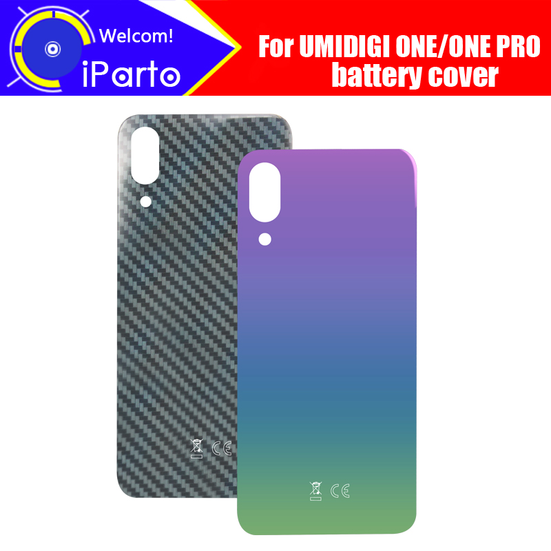 5.9 inch UMIDIGI ONE Battery Cover 100% Original New Durable Back Case Mobile Phone Accessory for UMIDIGI ONE PRO Cell PhoneHalf-wrapped Cases   -