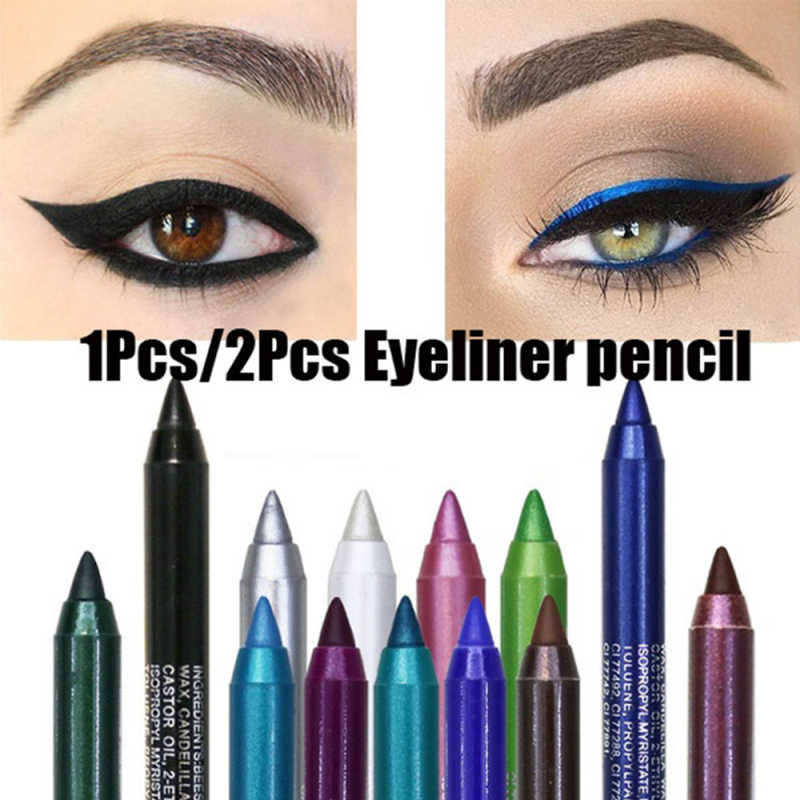 1PC Fashion Wanita Eye Liner Pensil Eyeshadow Mutiara Makeup Pigmen Smoky Eye Shadow Pallet Tahan Air Kosmetik Eye Shadow