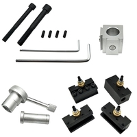 Mini CNC Quick Change Tool Lathe Tool Holder Post Cutter Holder Screw Kit Set Boring Bar Turning Facing Holder Wrench Promotion|Tool Holder|   -