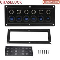 Universal 12 24V 6 Digit Way Switch Panel Smart Touch Switches Board Commander Auto Car Boat Cabin RV Yacht Bus Refit Control