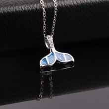 Trendy female unique design fashion animal jewelry blue whale