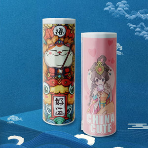Image 2 - NBX Beautiful Pencil Case School Chinese Style Culture Creative Stationery Gift Dog Newmebox Kawaii Girl Pen Box Mysterious Dog