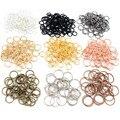 200 шт./лот 3/4/5/6/7/8/10 мм Металлические самодельные ювелирные изделия открытые кольца с одной петлей и разделенное кольцо для изготовления ювел...