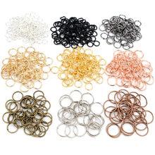 200 pçs/lote 3/4/5/6/7/8/10mm metal diy jóias descobertas aberto único laços salto anéis & anel rachado para fazer jóias
